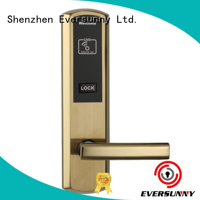 apartment key card door lock price with central management control system for hotel Eversunny