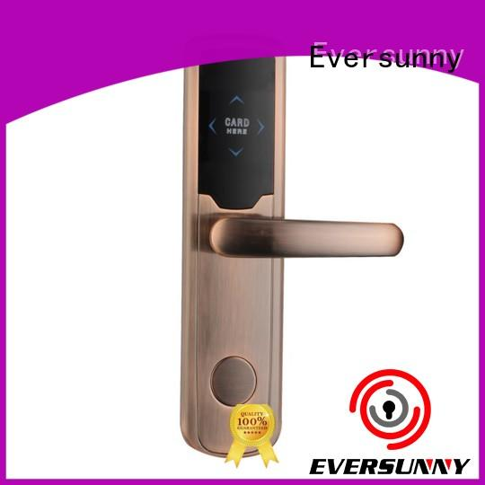 door keycard lock stainless steel for apartment Eversunny