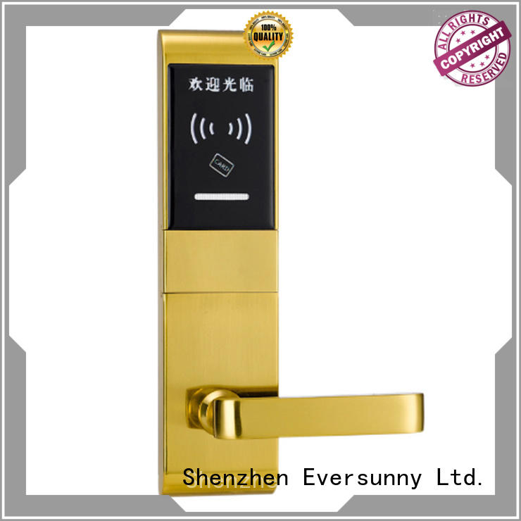 practical card lock entry stainless steel for apartment
