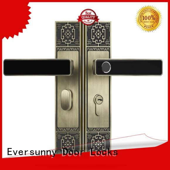 Eversunny superior biometric door lock touch screen for apartment