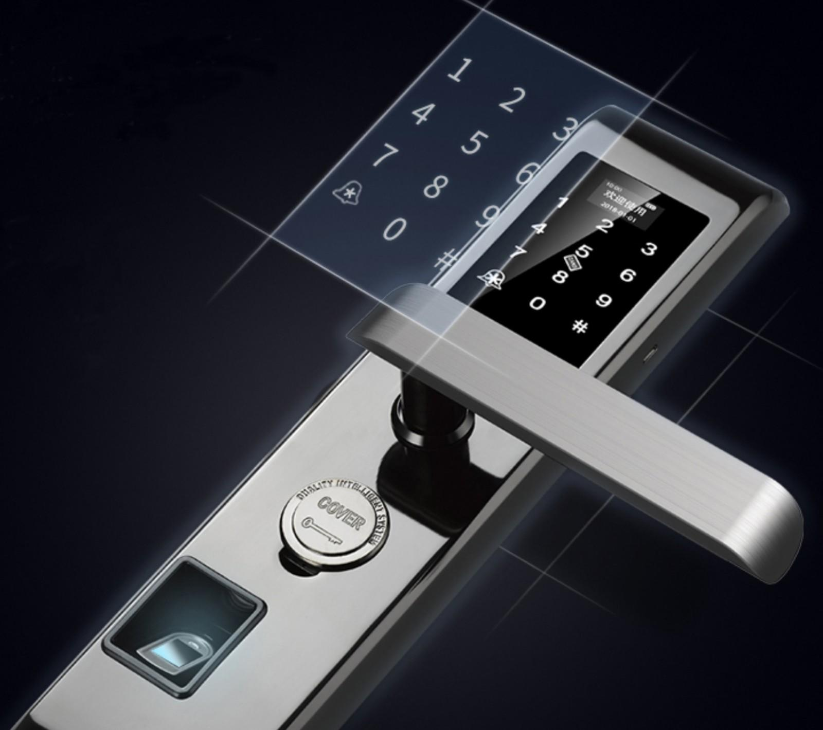 Eversunny input fingerprint lock system touch screen for office-3