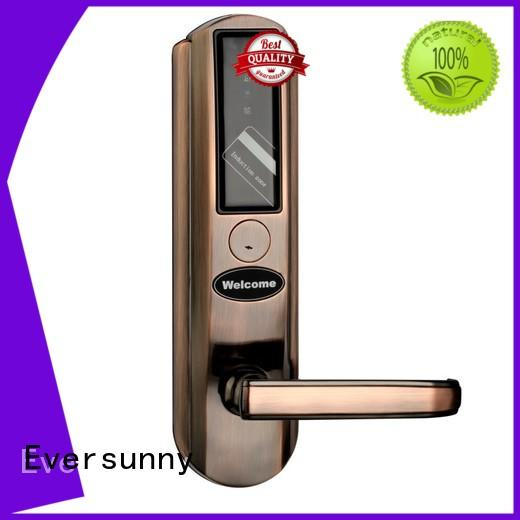 Eversunny lock rfid card door lock system stainless steel for hotel