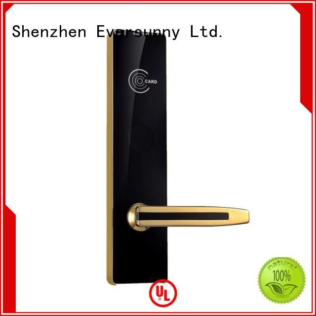 Eversunny smart rfid card door lock with central management control system for home