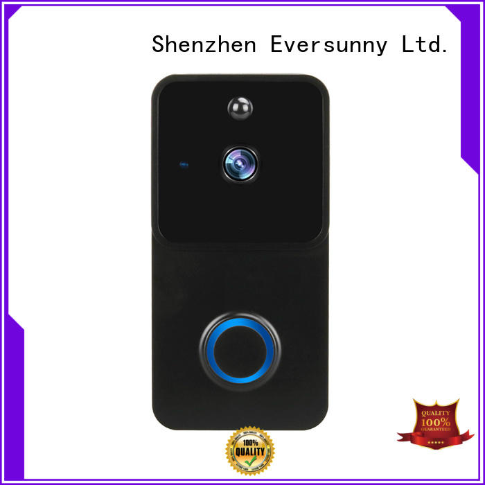 Eversunny video wireless wifi video doorbell with central management control system for home