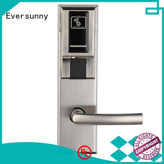 Eversunny hotel key card door entry systems with central management control system for hotel