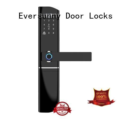 Security keyless door lock biometric fingerprint and handle