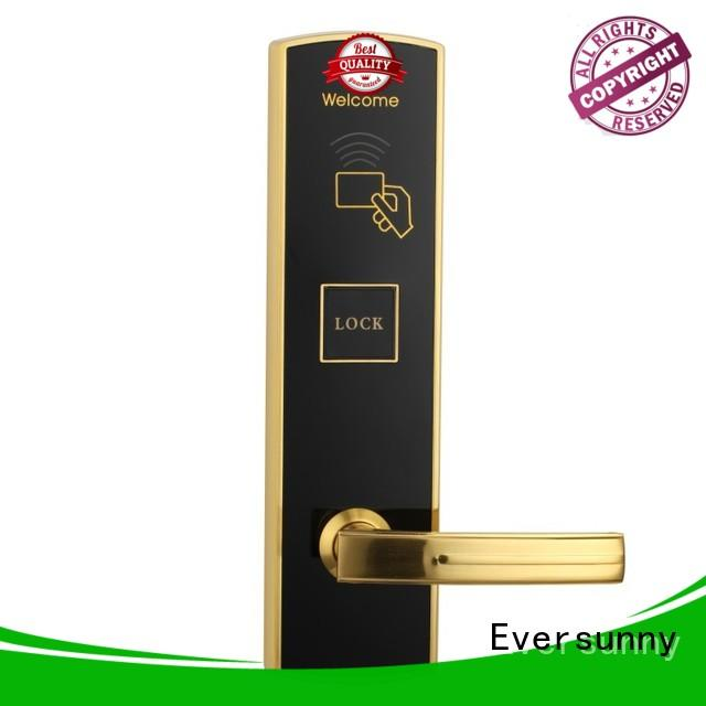 Eversunny practical swipe card door lock with central management control system for apartment