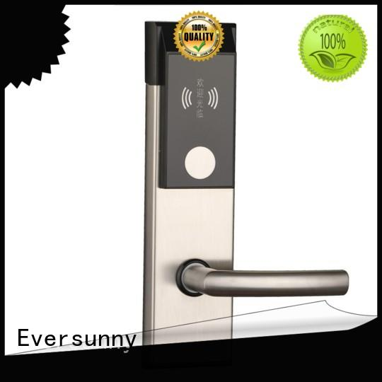 Eversunny key card door lock stainless steel for home