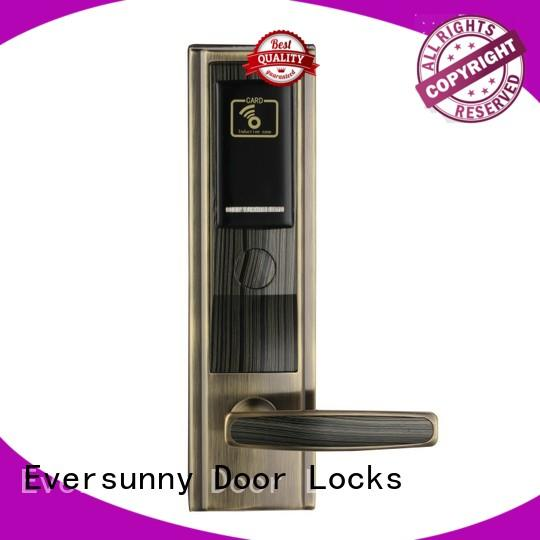 Eversunny key card door lock price stainless steel for apartment