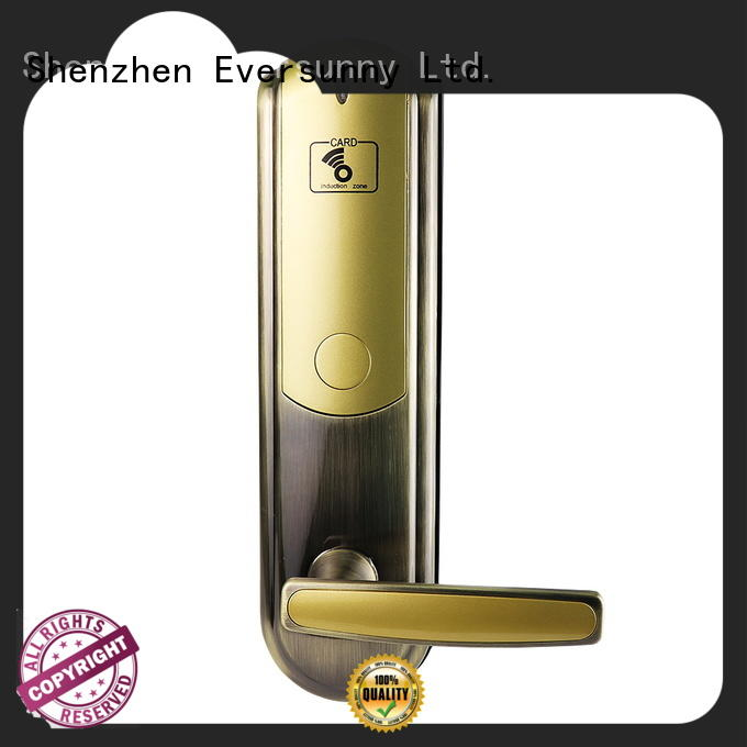 Eversunny safe card access door lock system with central management control system for door