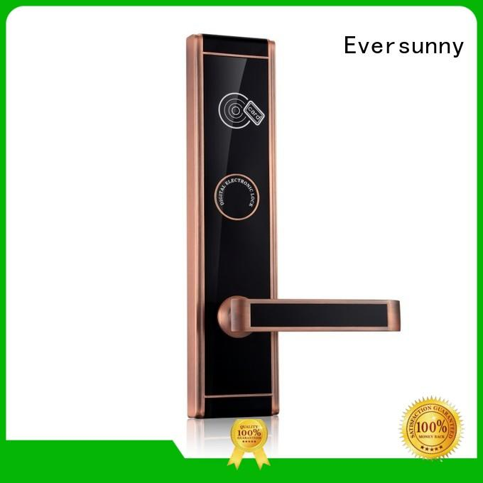 Eversunny swipe card door lock with central management control system for home