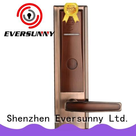 electronic swipe card door lock stainless steel for home Eversunny