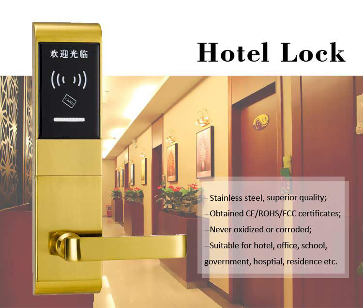 reliable card access door lock electronic hotel smart locks for hotel-1