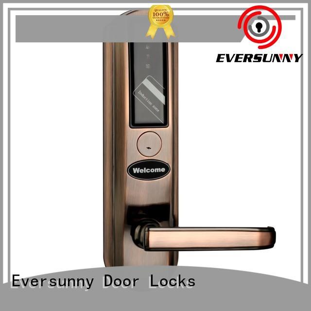 Eversunny smart card access door lock stainless steel for door