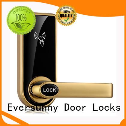 Electronic hotel handle door lock for outdoor with mechanic key KB818
