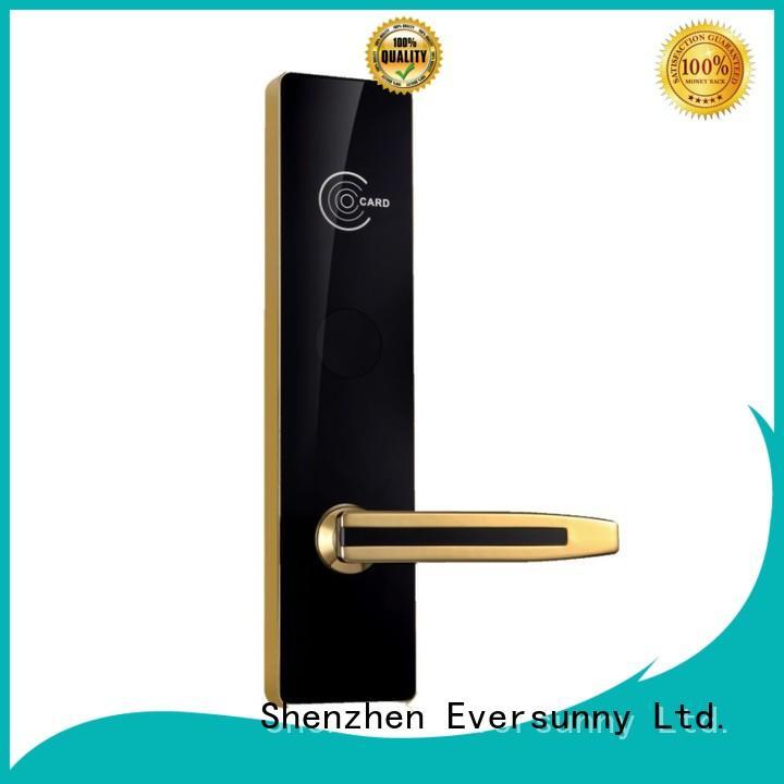Eversunny steel card access locks hotel smart locks for door