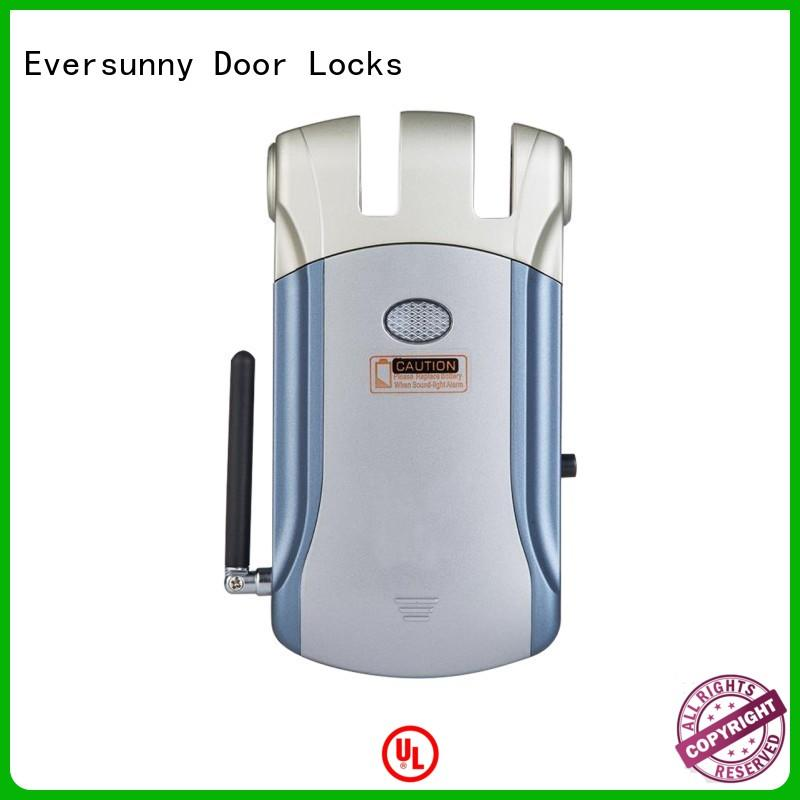 Eversunny simple remote control door lock mobile controlled for villa
