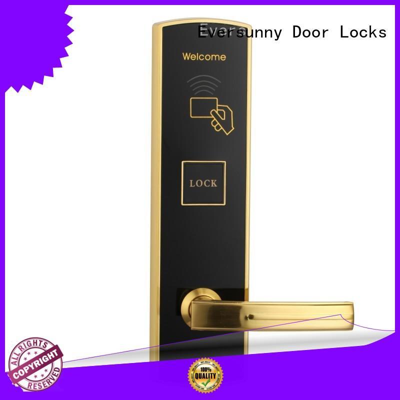 Eversunny safe card reader door lock hotel smart locks for hotel