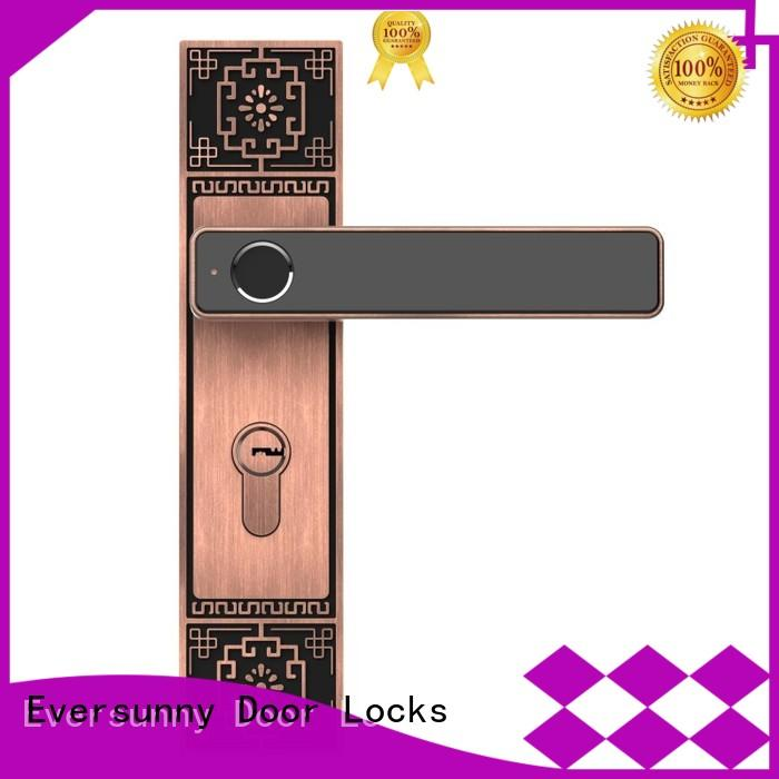 Eversunny thumbprint finger touch lock knob for apartment