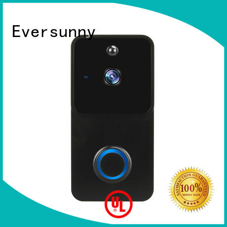 Electronic ring wi fi enabled video doorbell with central management control system for apartment