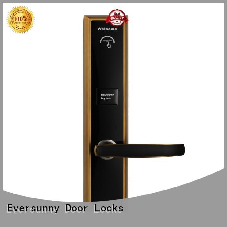 Eversunny key key card door entry systems hotel smart locks for hotel