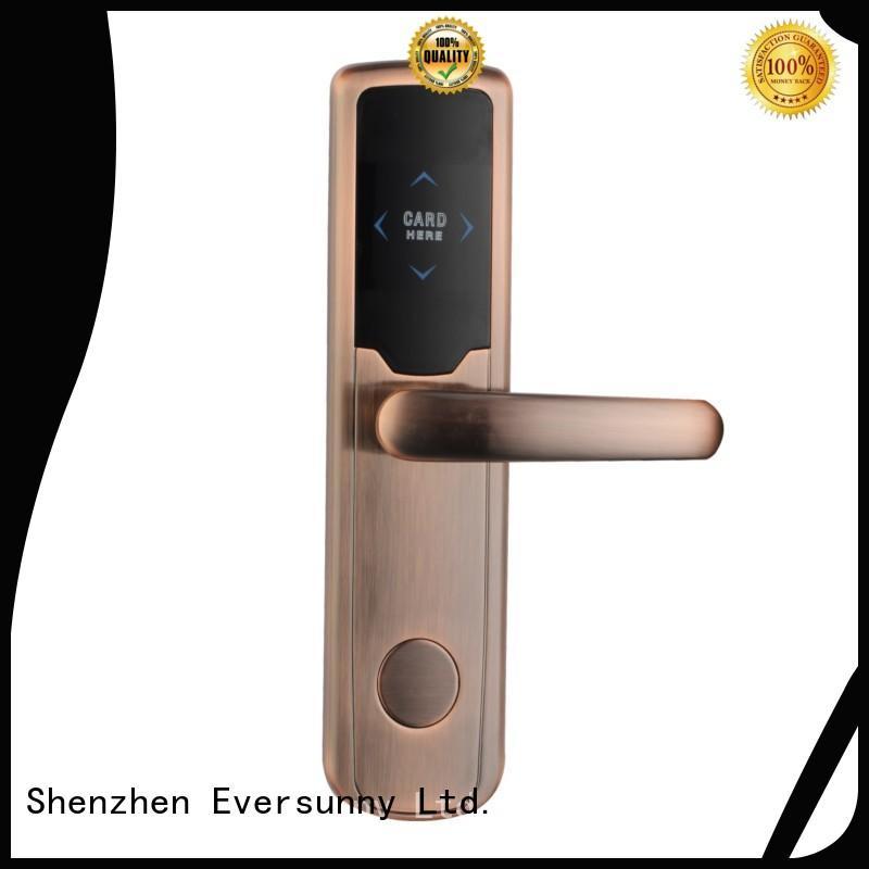 Eversunny smart card door entry system hotel smart locks for door