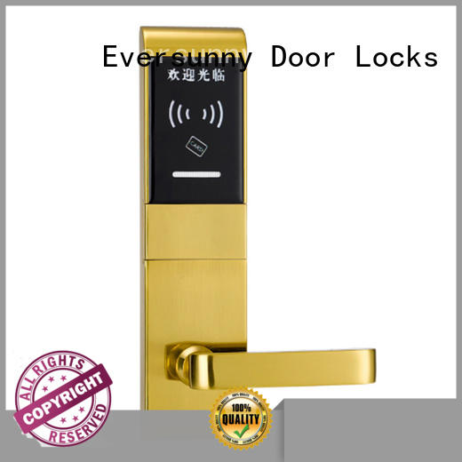 Eversunny electronic door locks with card reader with central management control system for hotel