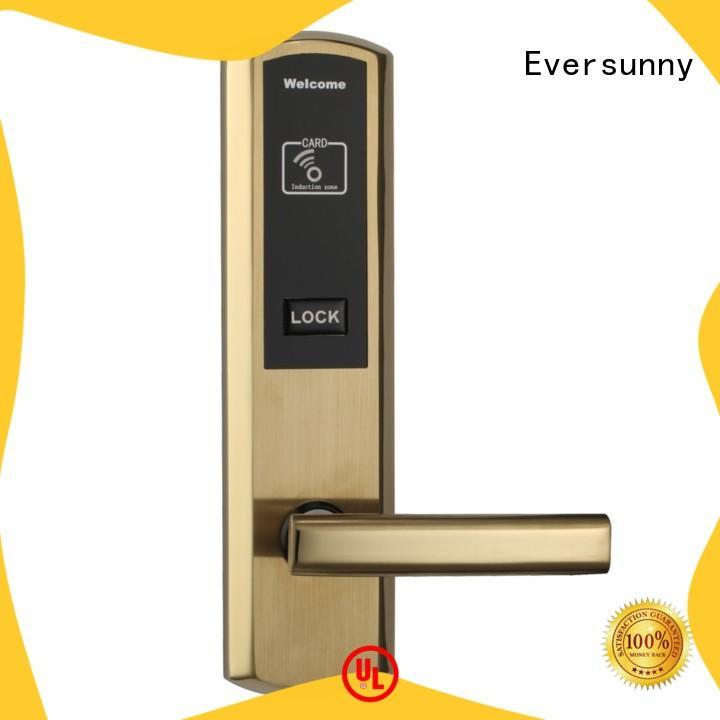 Eversunny card access door lock system hotel smart locks for door