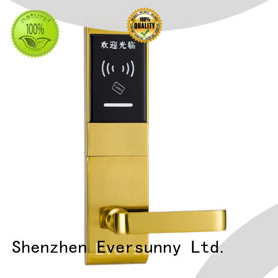 Eversunny safe swipe card door lock with central management control system for apartment