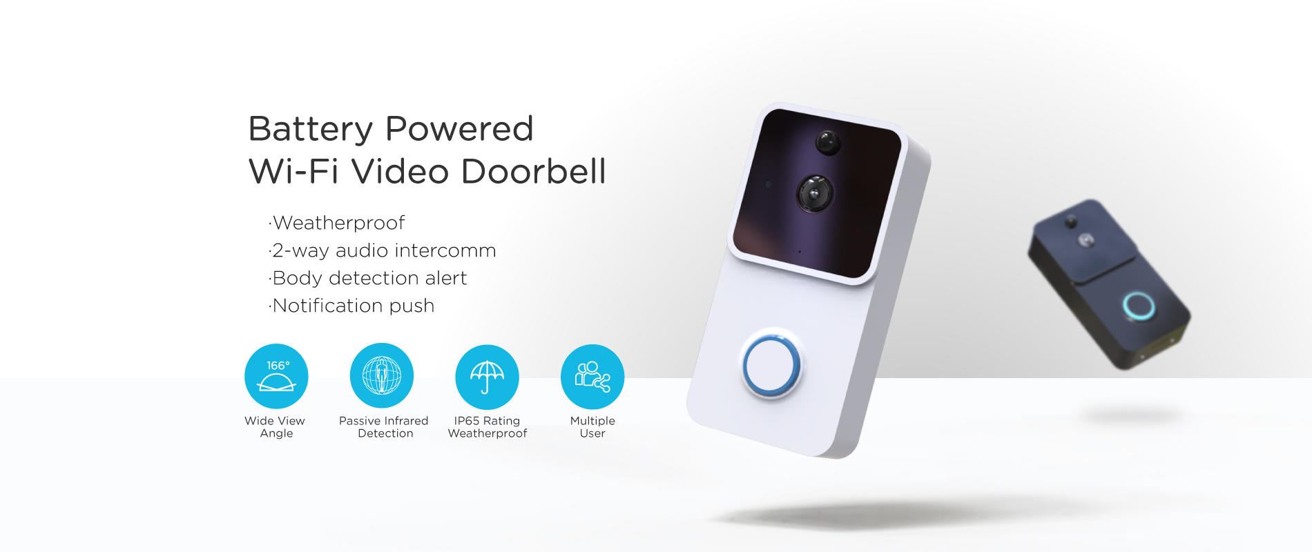 Eversunny Electronic wifi enabled doorbell stainless steel for hotel-1