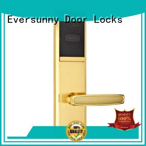 Eversunny convenient rfid card door lock system with central management control system for hotel