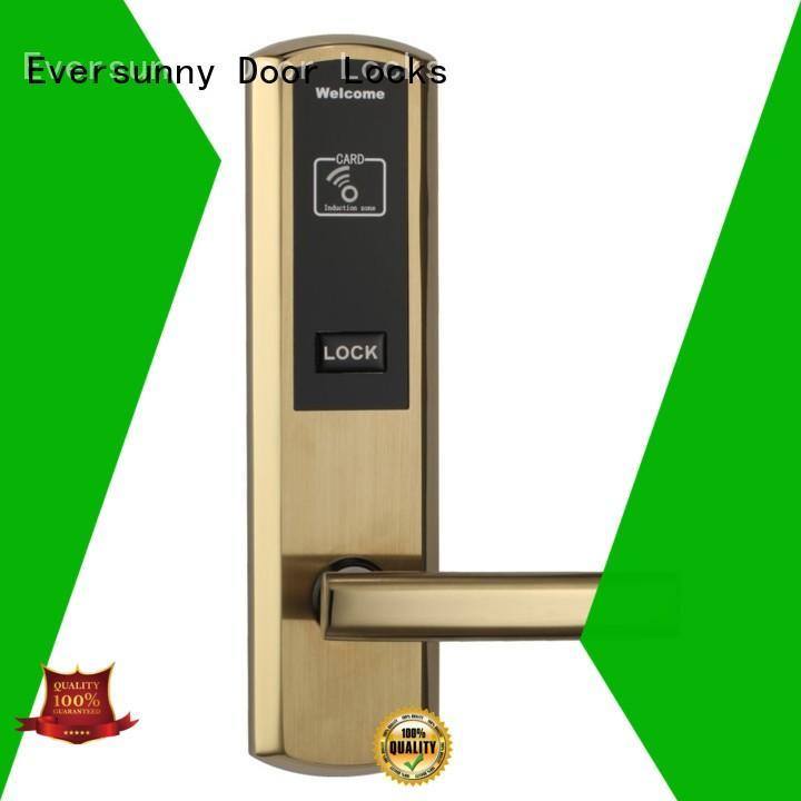 key electronic door locks with card reader stainless steel door