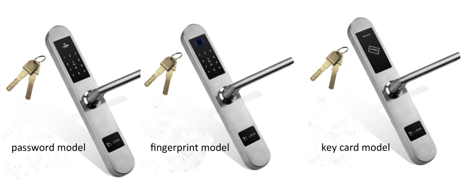 Broken bridge aluminum Door Lock Keyless for Sliding Door KB8018-3-3
