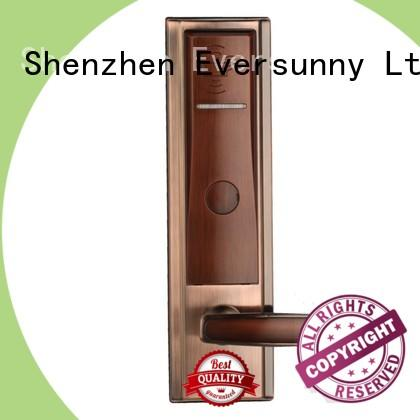 Eversunny reliable card access door lock with central management control system for hotel