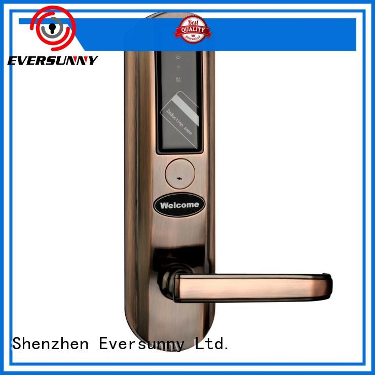 Eversunny safe key card door lock system stainless steel for door
