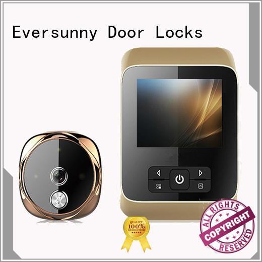 Eversunny multiple-digit smart digital door viewer security camera for broken bridge