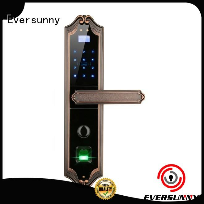 Eversunny top fingerprint lock front door for cottage