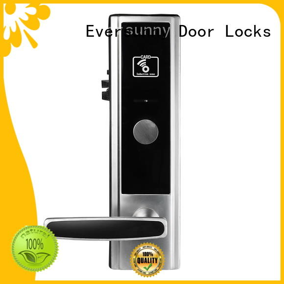 Eversunny rfid card door lock with central management control system for apartment