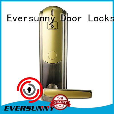 practical rfid card lock door with central management control system for home