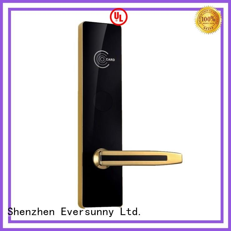 Eversunny entry rfid card lock with central management control system for door