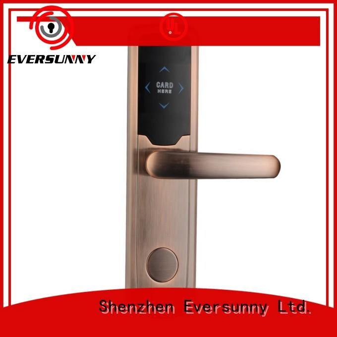 Eversunny card entry door locks stainless steel for hotel