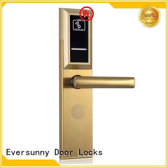 Eversunny smart card reader door lock hotel smart locks for door