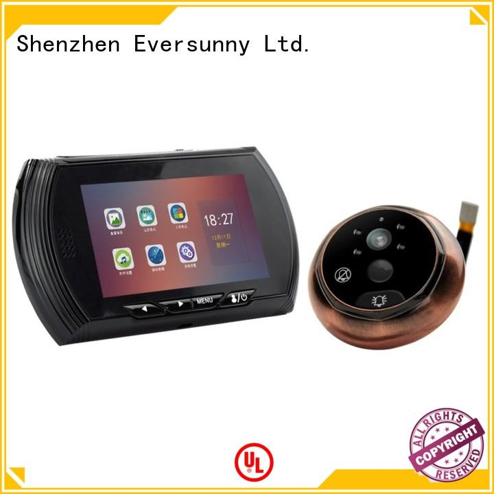 Eversunny security video peephole lens for home