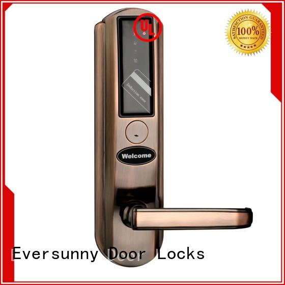 key card entry door locks with central management control system for home